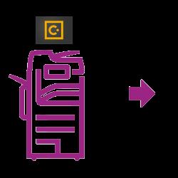 Imprimante icône violette