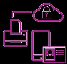 Réseau sécurisé icône violette