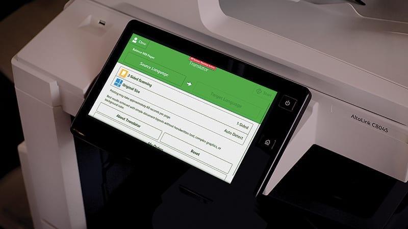 Ecran imprimante Translate & Print App